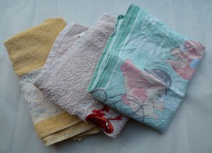 It's a good idea to have 'quite a few' spare towels/tea towels dedicated to aquarium cleaning!