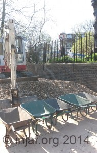 Wheelbarrows ready for action